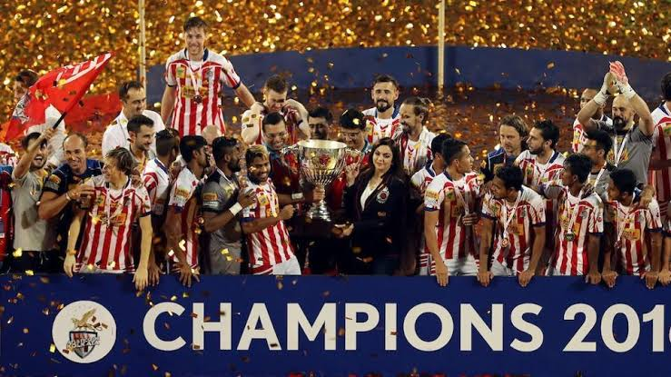 Atletico de Kolkata winning their SEcond trophy